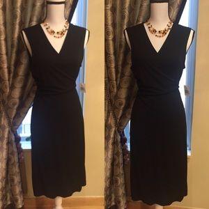 Black Wrap Dress by Calvin Klein